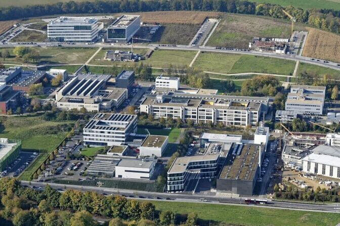 Aerial view of Campus Melaten